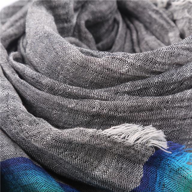 Rainbow Striped Summer Scarves | Shawls & Wraps