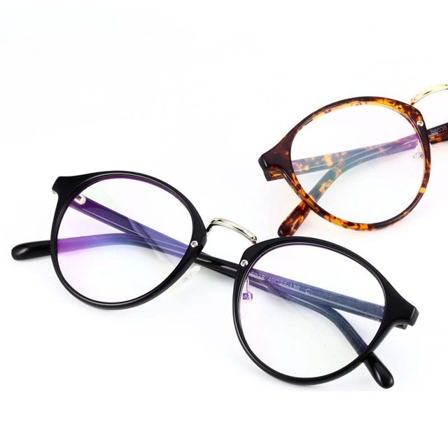 Clear frame glasses vintage optical glasses frame women men brand metal