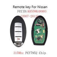 4Buttons Remote Key Keyless Fob For Nissan Altima Maxima Murano 2007 2008 2009 2010 2011 2012 original key PCF7952 Chip