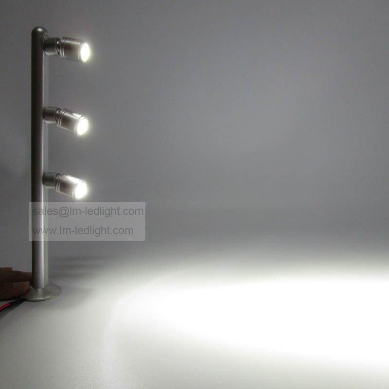 100pcs/lot 3W led jewelry display lighting 110-240V aluminum showcase light warm white day white pure white showcase lighting