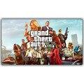 Grand Theft Auto V Искусства Шелка Печати Ткань Плакат Игры Горячие GTA 5 Изображений Для Украшения Стены YX1169