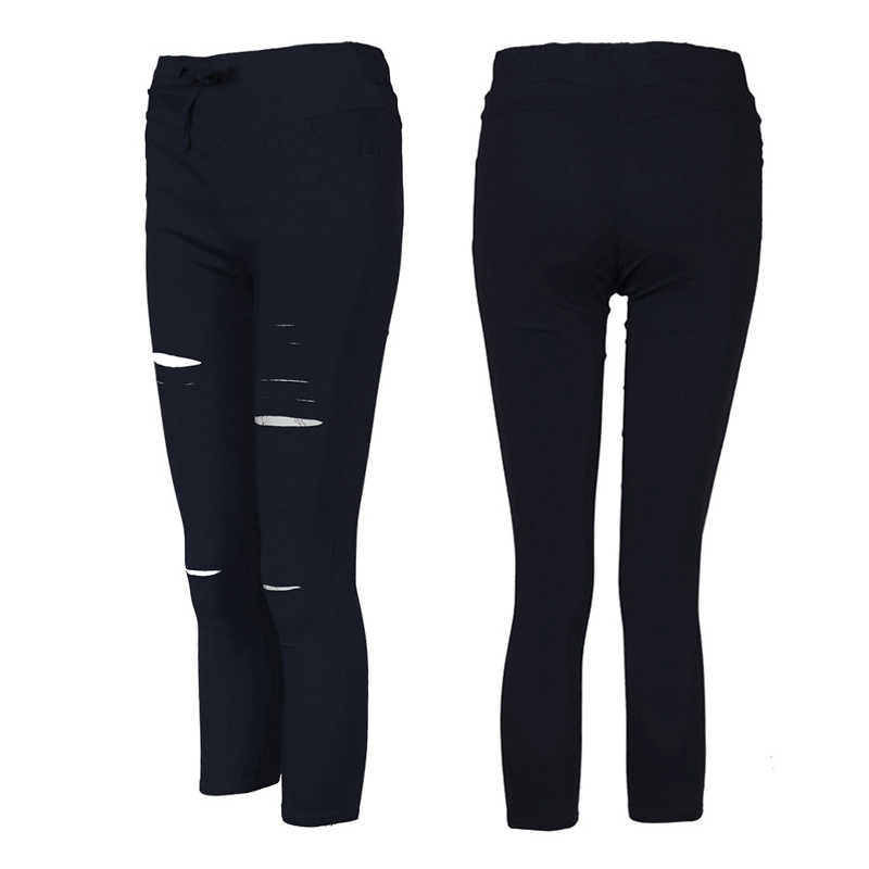 533fc33001eb7 ... 2019 Women Casual Denim Skinny Cut Pencil Pants High Waist Stretch  Imitation jeans Trousers Elasticity Drawstring ...
