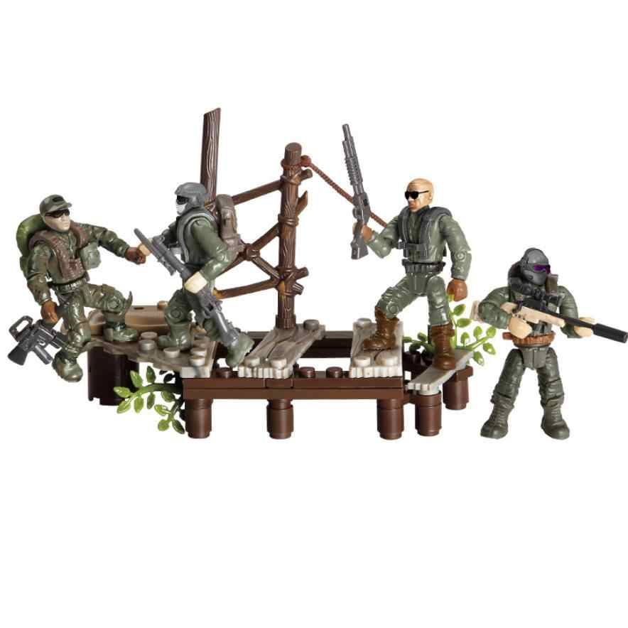 Modern military 1:36 scale Sirius  Commandos Crossing the swamp mega block army action figures building bricks toys collection