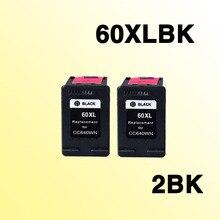 2 шт. с черными чернилами картриджи совместимые for60 совместимый для квадрокоптера с дистанционным управлением 60 60xl C4740 C4750 C4780 C4795 D2530 D2545