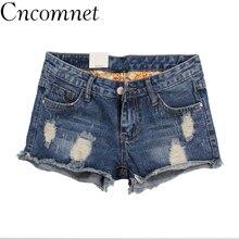 Hole Denim Shorts Women Summer Korean Version Loose Broad Leg Jeans Beggars 2019 New Large Size 26-32