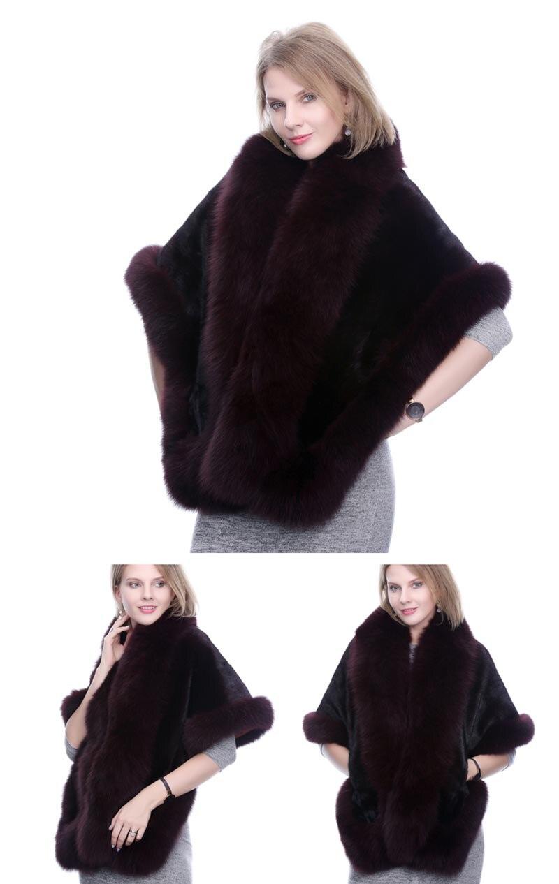 mink fur shawl fox fur trimmed (9)