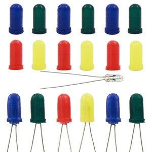 Image 1 - XPT01M 100 ชิ้นหมวกยาง/สำหรับ 3 มิลลิเมตรเม็ดข้าวสาลีหลอดไฟ LEDs ใหม่ 4 สี