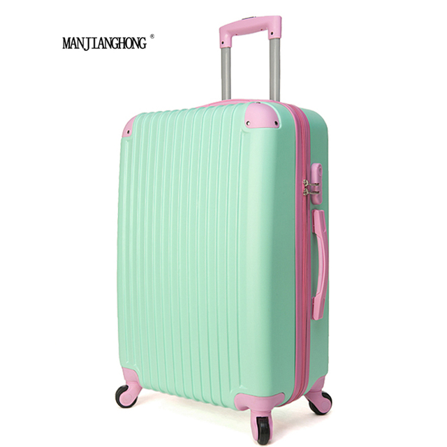 28 inch new Fashion ABS spell color Trolley Suitcase Luggage Travel Bag,Woman or men Travel rolling Luggage,7 Colors to choose