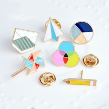 2018 NEW FASHION Sale 1PC Cartoon Circle Envelope Brooch For Women Pin collar Bag Badge Decoration Fashion Jewelry
