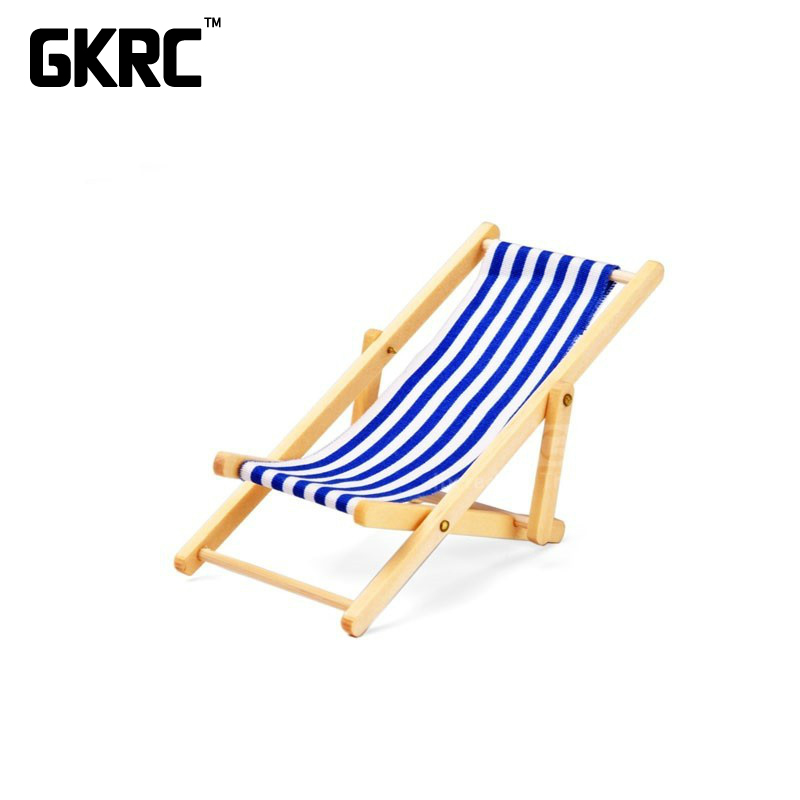 1pcs Simulation Wood Fold Beach Chair For 1/10 Rc Crawler Car Traxxas Trx4 Defender Ford Bronco Rc4wd D90 D110 Axial Scx10 90046 Fashionable And Attractive Packages Parts & Accessories Remote Control Toys