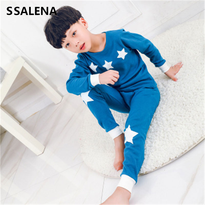 Toddler Boys Clothes Set Kids Pajamas Set Cartoon Print Pijama Girls Long Sleeve Shirts+Pants 2Pcs Baby Cotton Sleepwear D0003