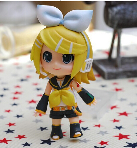 #189 Cute 4 Nendoroid Hatsune Kagamine Rin PVC Action Figure Model Collection Toy ND007
