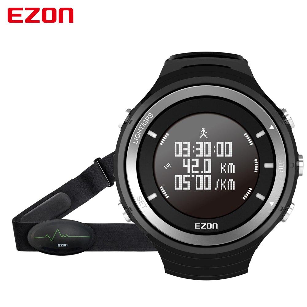 EZON T033 Smart Sports Marathon Running Watch Bluetooth 4.0 GPS Track Pedometer Heart Rate Wristwatch Altimeter Barometer ezon gps hrm heart rate monitor sports hiking training fitness watch calories pedometer bluetooth 4 0 smart sports watch t033