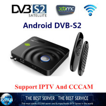 Android DVB-S2 Satellite decoder Dual-coreTV Box with Fly Mouse CCCAM Support Smart Digital STB for Android Satellite Receiver