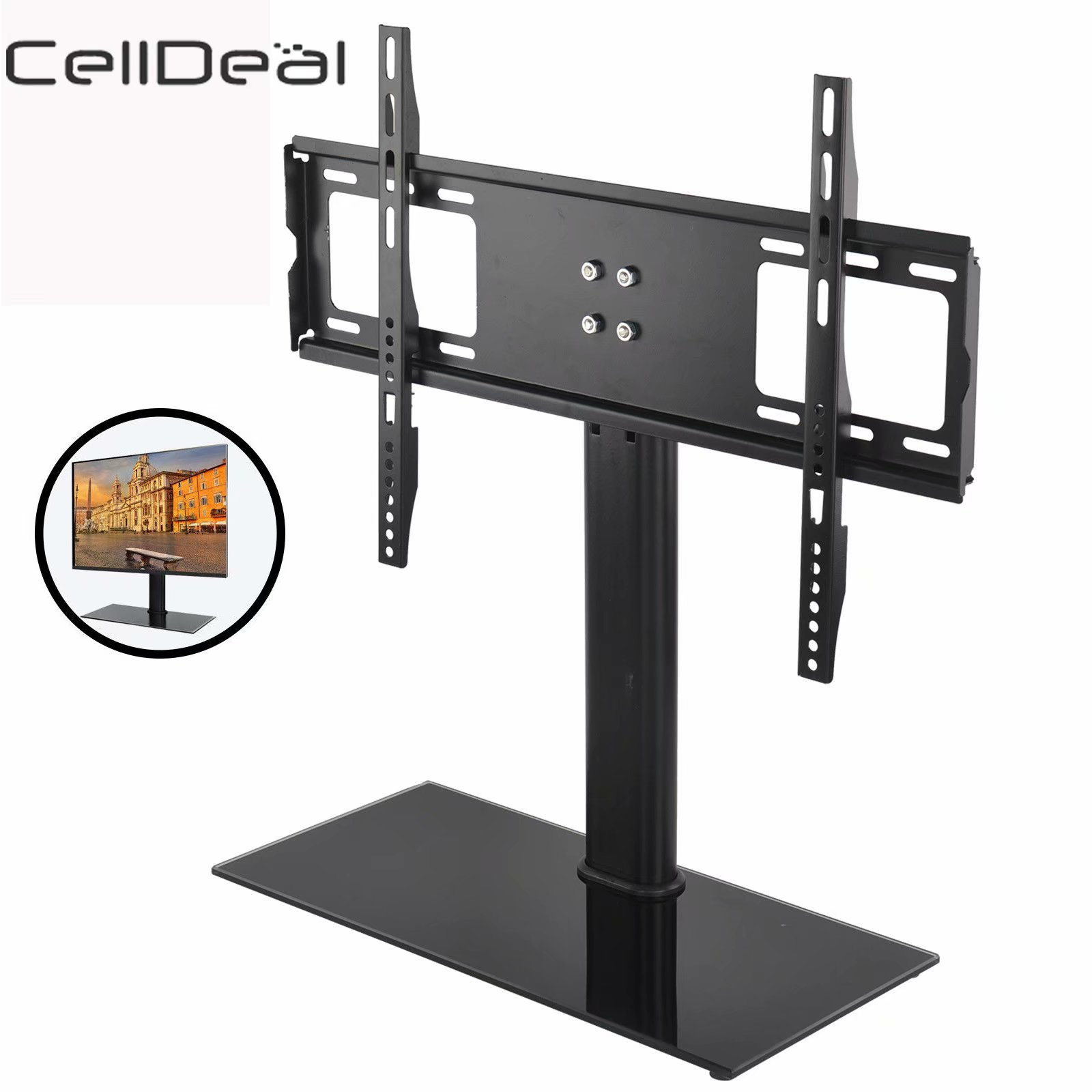 CellDeal Universal Adjustable Tabletop TV Stand Table Bracket Pedestal LCD LED 37