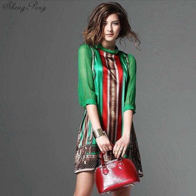 Hippie bohemian style boho hippie dress mexican embroidered dress boho chic dresses Q531 2