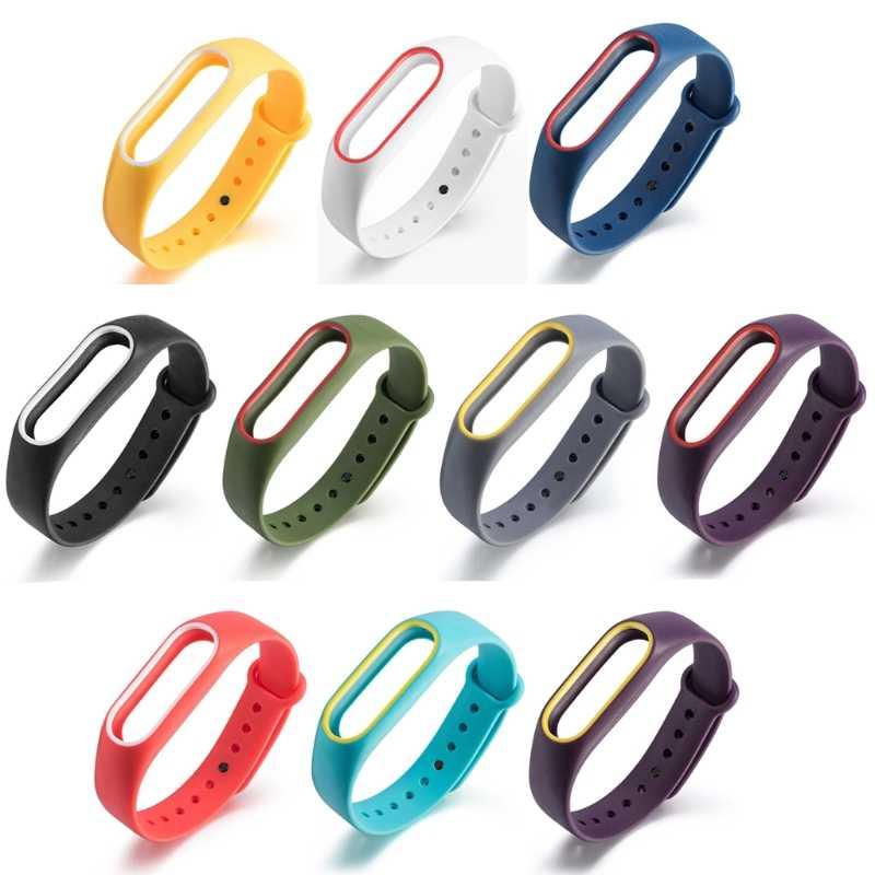 OOTDTY מקורי סיליקון רצועות יד צמיד צמיד fit החלפה XIAOMI MI Band 2