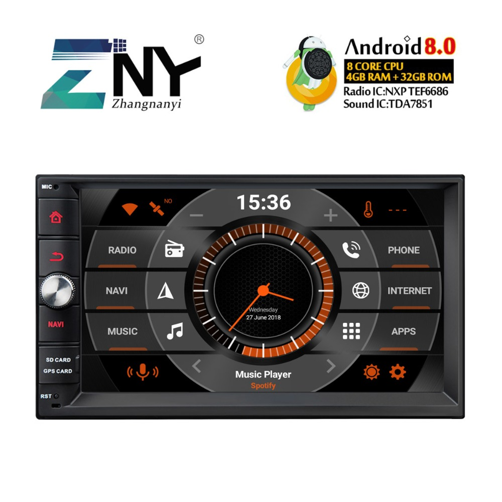 7 HD Android 8.0 Car Stereo 8 Core CPU For Old Nissan Hyundai Series Universal Audio Video Radio Fast Boot Backup Camera No DVD