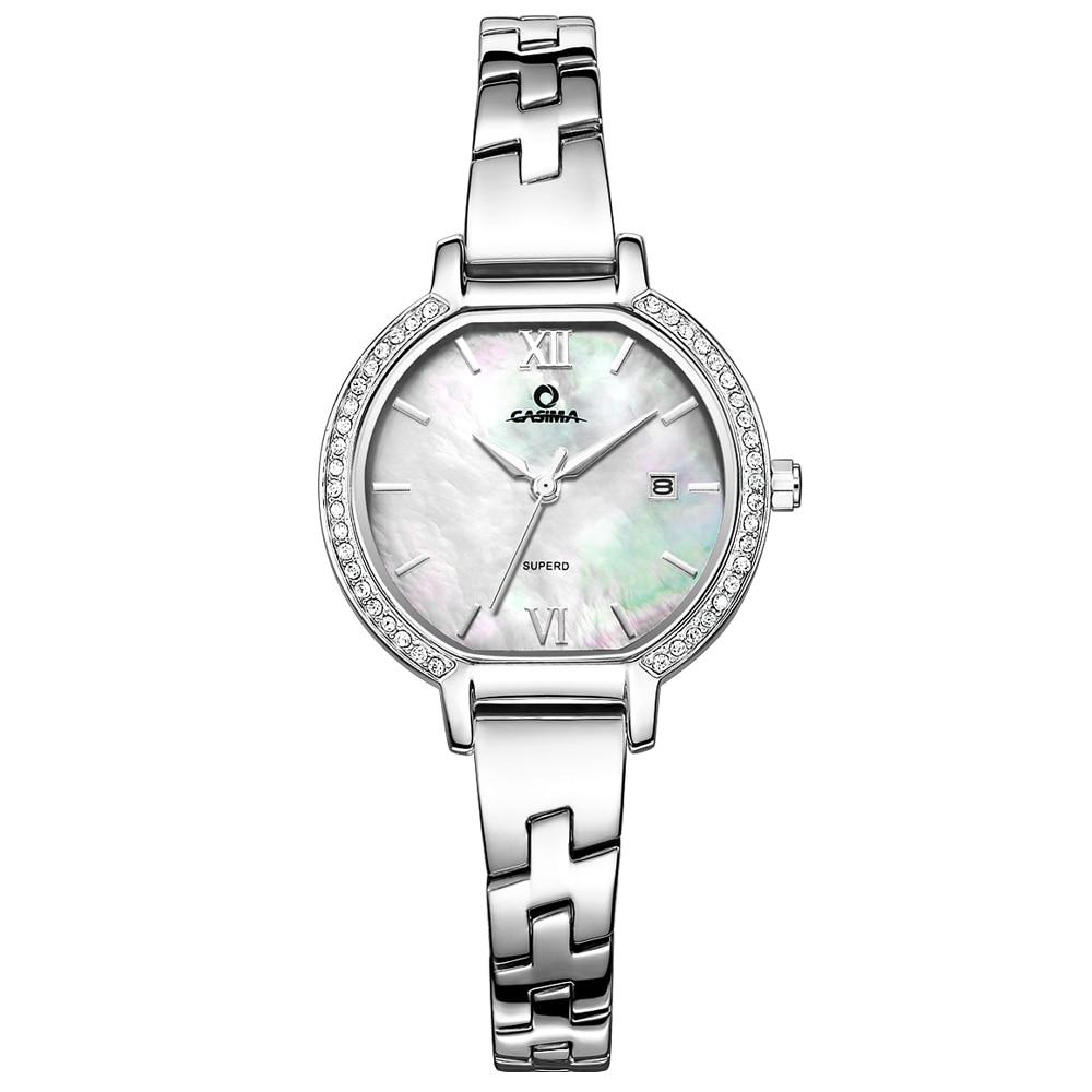 все цены на Relogio feminino luxury brand watches women fashion elegent stainless steel bracelet quartz wrist watch waterproof CASIMA#2614 онлайн