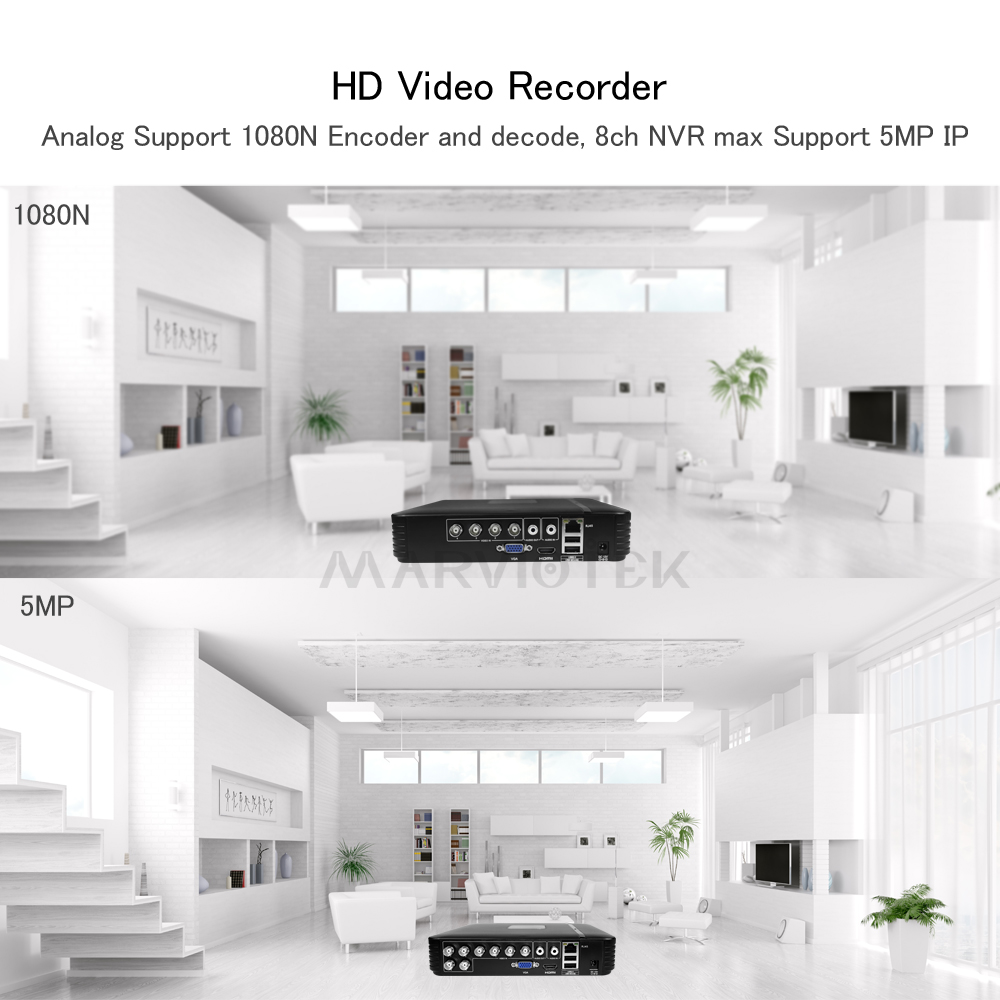 Image 5 - 4 Channel AHD Mini DVR Video Recorder Surveillance Security CCTV NVR 720P/8CH 1080N Hybrid DVR For Analog AHD ONVIF IpCam WiFi-in Surveillance Video Recorder from Security & Protection