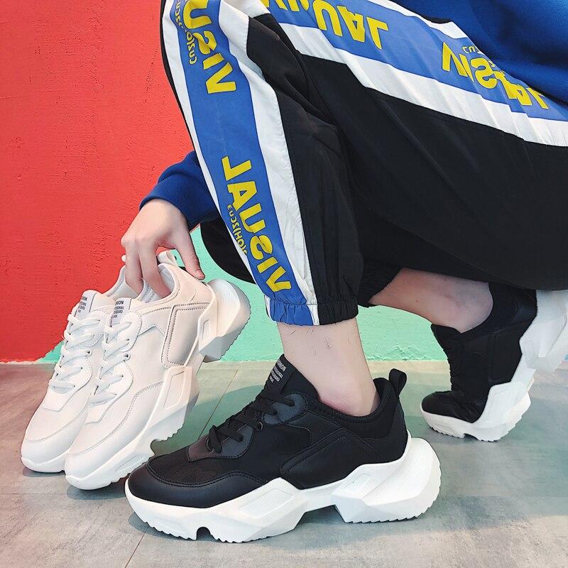 Leader Show hommes baskets respirant en caoutchouc tendance homme chaussures printemps Sport chaussures Zapatos Hombre chaussures de course pour hommes lumière - 5