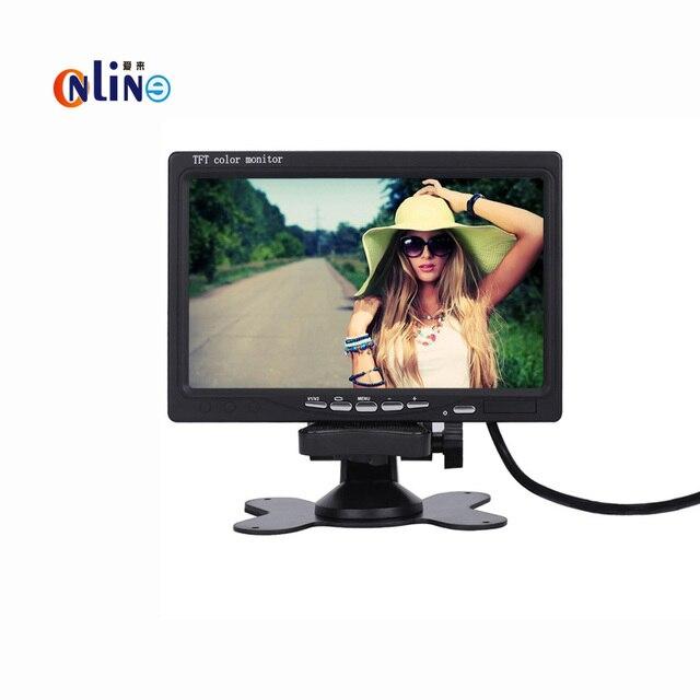 Online/Car electronics DC 12V 800 x 480 7 inch Car Monitor Bright Color = Interface HD TFT LCD AV VGA Auto Rear View Monitor