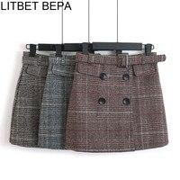 Клетчатая юбка с поясом Цена 900 руб. ($11.45) | 25 заказов Посмотреть