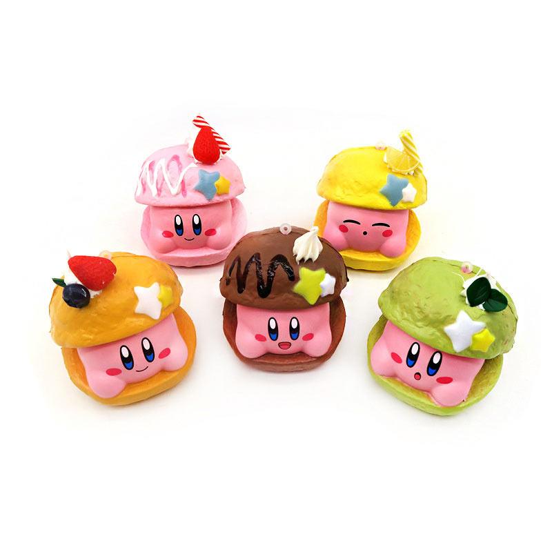 New Lot Pcs/Set Japan Kirby Squishy PU Cartoon Toys Soft Mini Slow Rising Doll Pendant 6CM Stress Relief Funny Gift