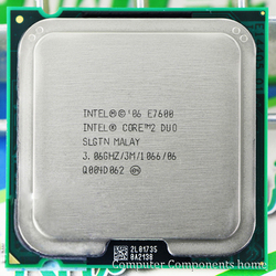 Original intel Core 2 Duo E7600 LGA 775 CPU (procesador de 3,0 Ghz/3 M/1066 GHz) 775