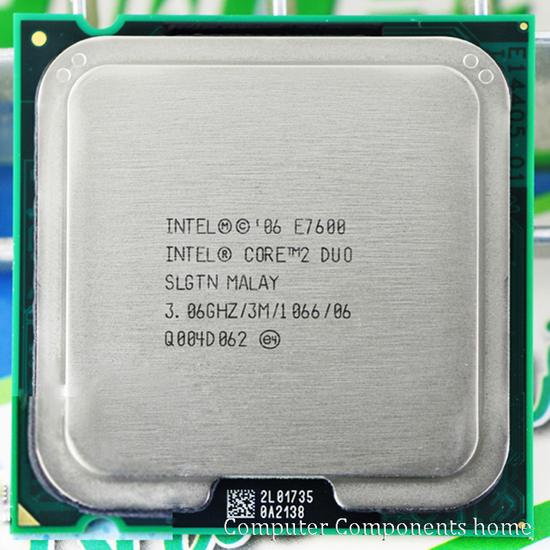 Galleria fotografica Originale <font><b>Intel</b></font> Core 2 Duo E7600 Lga 775 Cpu Processore (3.0 Ghz/3 M/1066 Ghz) presa 775