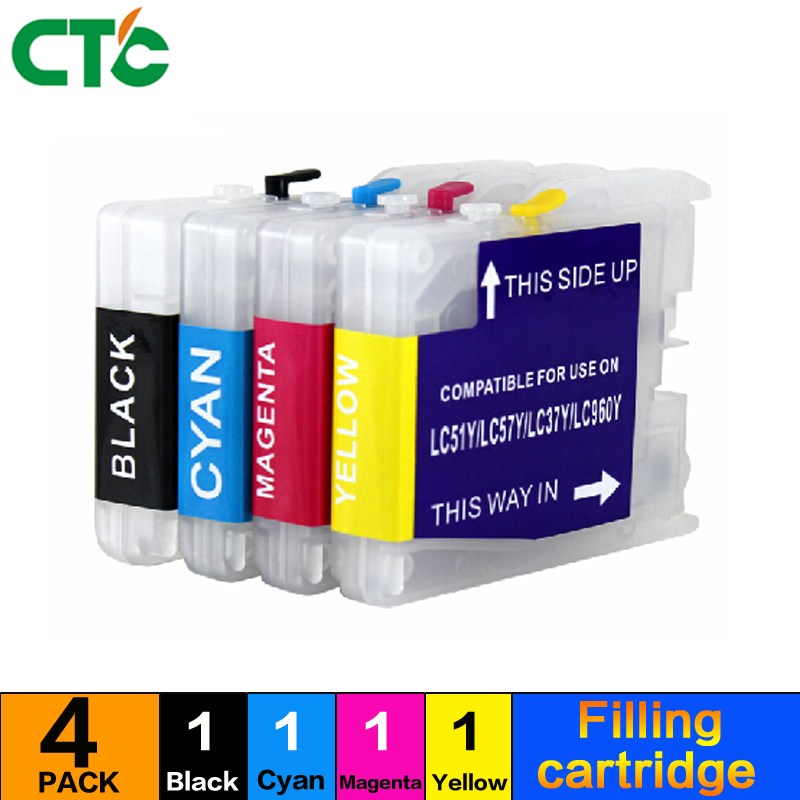 Circulating ink cartridges Compatible for Brother MFC-3360C 5460CN 5860CN 2480C 2580CP rinter ink LC970 LC1000 LC37
