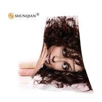 Hot Custom Mya Towel Printed Cotton Face/Bath Towels Microfiber Fabric For Kids Men Women Shower Towels A7.24-1