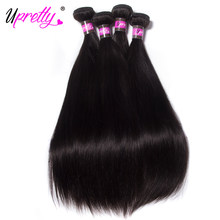 Upretty Hair Cambodian Straight Hair 4 Bundles 10-30 inch Human Hair Weave Bundles Remy Human Hair Extensions Natural Color 10a(China)