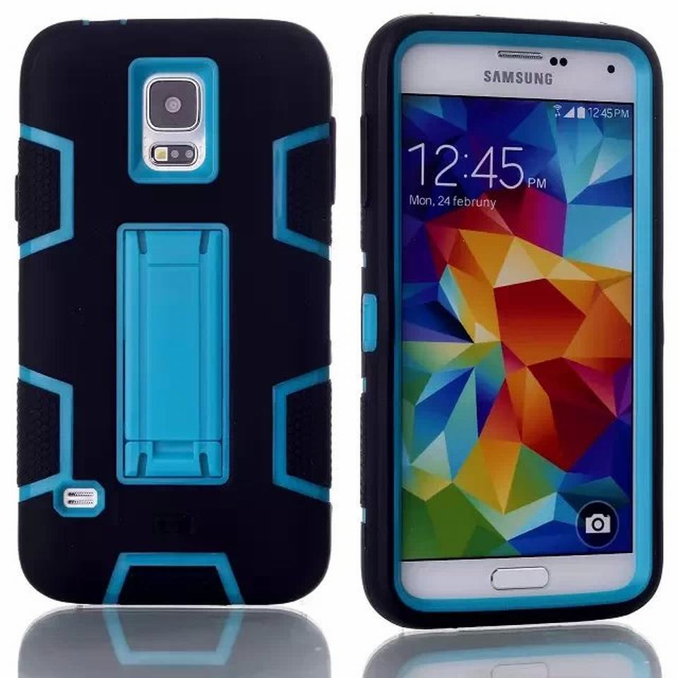For Samsung Galaxy S5 Case Silicone 3 in 1 Hybrid Hard Cover Stand Phone case For Samsung Galaxy