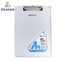 A4 Aluminum Alloy Clipboard Anti-Slip Board Writing Pad  Sketch Painting Clipboard Paper File Clip Office School Supplies Glosen kicute 1pcs a4 file paper metal clipboard clips clipboard writing pad office writing board document folder pattern randomly