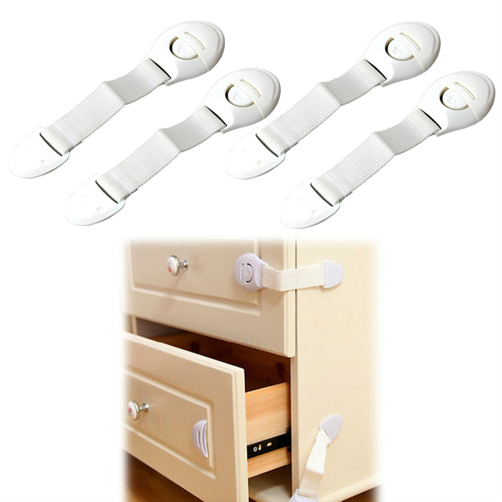 2Pcs Child Infant Baby Kids Drawer Door Cabinet Cupboard Toddler Safety Lock