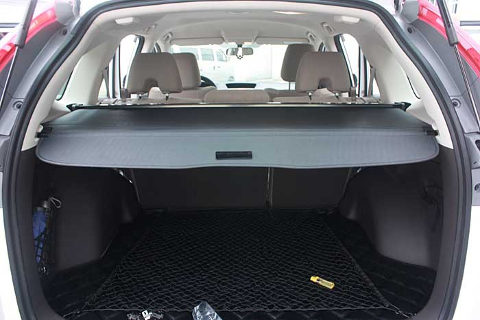 New! For Honda CRV CR-V 2012 2013 2014 Rear Trunk Security Shield Cargo Cover 2pcs fit for 2012 2013 2014 2015 2016 honda crv cr v rear bumper protector cargo step panel cover sill plate trunk trim garnish