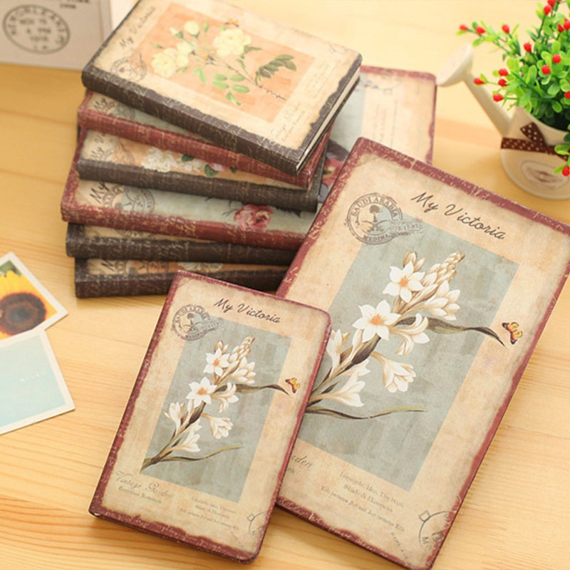PU Leather Retro Beautiful Floral Office Schedule Notebook Students Diary Weekly Planner Equipment Bullet Journal Agenda 2019
