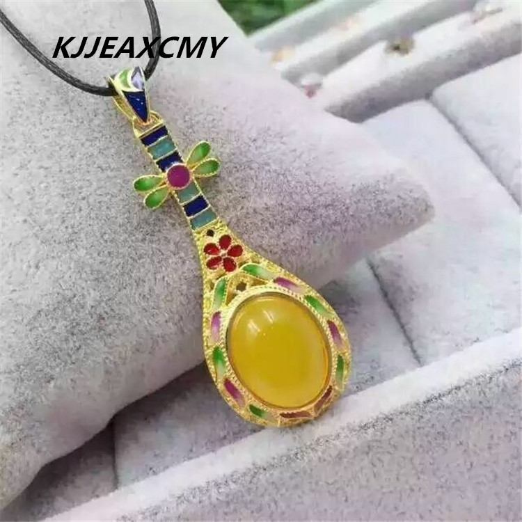 KJJEAXCMY boutique jewelry, Chalcedony Pendant 925 sterling silver inlaid jewelry and silver necklace female jewelry wholesale 925 sterling silver jewelry silver silver ruyi lucky elephant pendant pendant wholesale silver peace