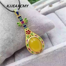 цена KJJEAXCMY boutique jewelry, Chalcedony Pendant 925 sterling silver inlaid jewelry and silver necklace female jewelry wholesale онлайн в 2017 году