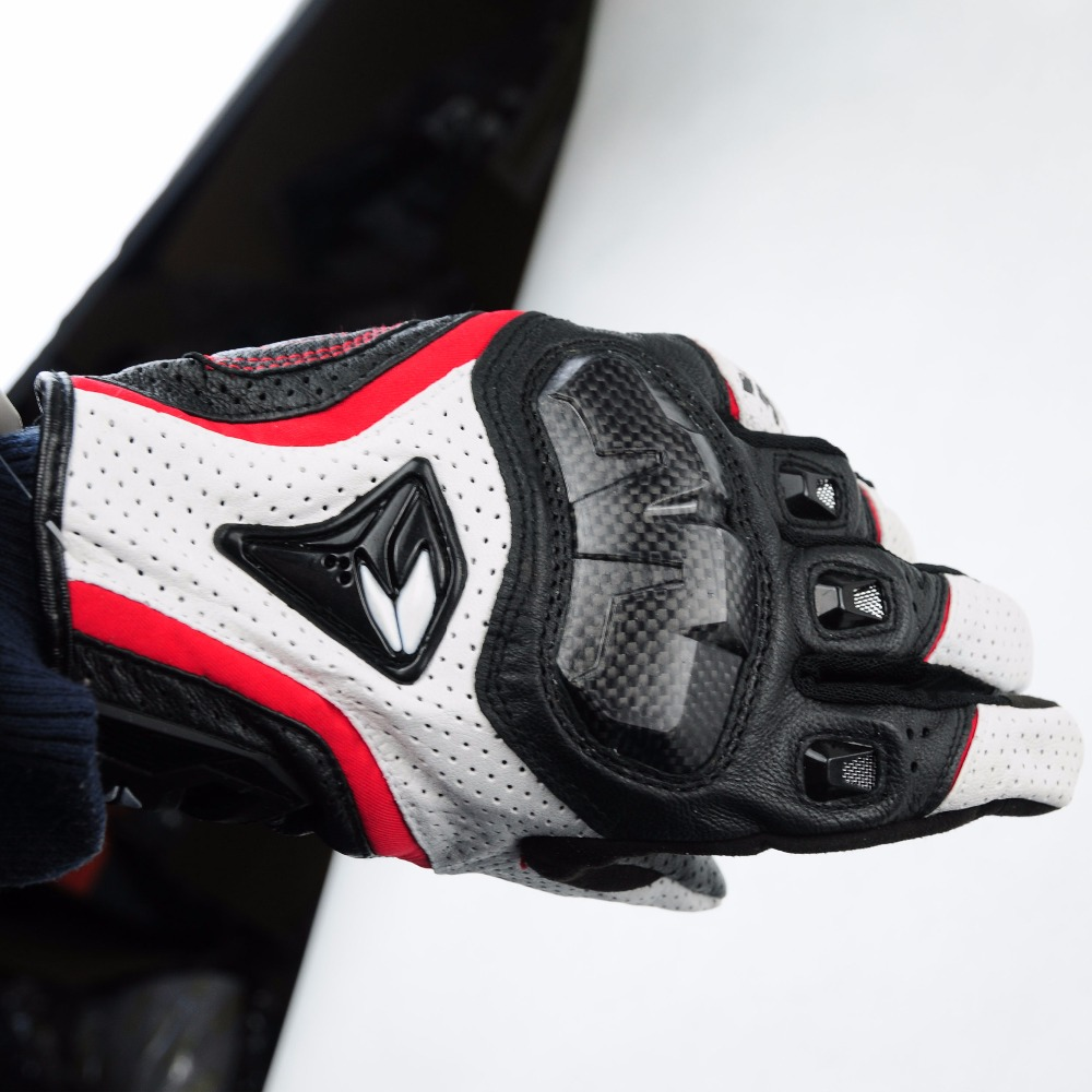 Motorcycle Leather Glove RS Taichi Perforate Carbon Fibre Protection Motocross Guantes Moto <font><b>Cycling</b></font> Gear Summer for Men Women