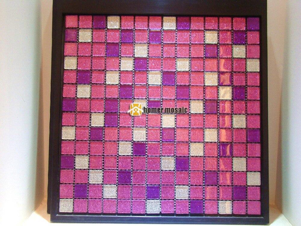Brillante viola mosaico di vetro di cristallo ehgm per la