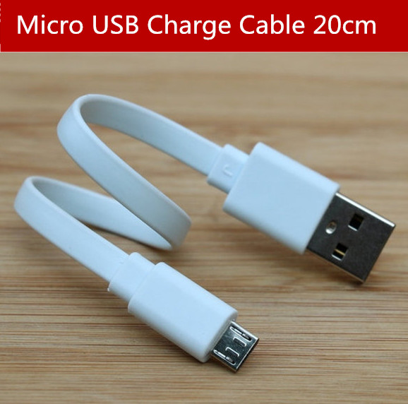 Micro USB Charging line Short Cable 20cm For XiaoMi Power Bank For xiaomi Samsung Huawei HTC Mobile phones & Tablet PC 0.2M