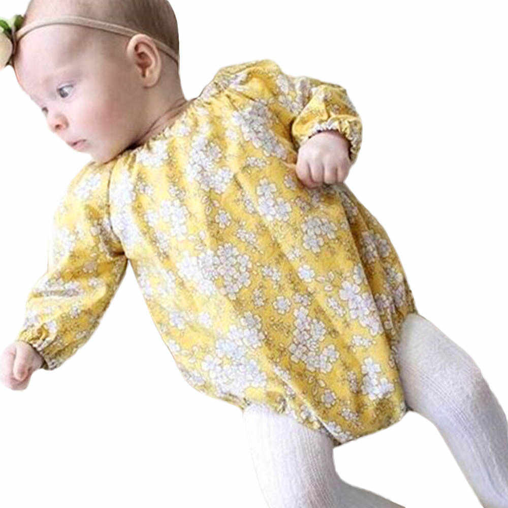 2018 New Fashion Infant Toddler Baby Girls Boys Children's Clothes Cotton Long Sleeve Print Floral Color Outfits Clothes