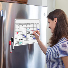 Yooap Magnetic Fridge Magnet Calendar Sticker Message Board Neutral Blackboard Wall refrigerator magnets