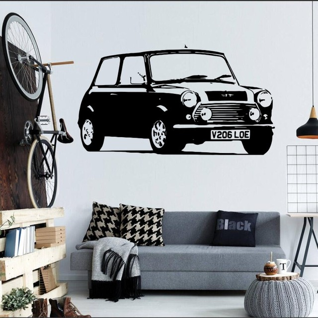 57x106cm High Quality Large Auto Mini Car Decal Bedroom Wall Sticker