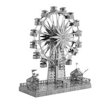 Rompecabezas 3D Modelo de Metal Multi-estilo DIY Laser Cut Rompecabezas Rompecabezas Kit para Adultos Niños Niños Colección Educativa Juguetes rueda