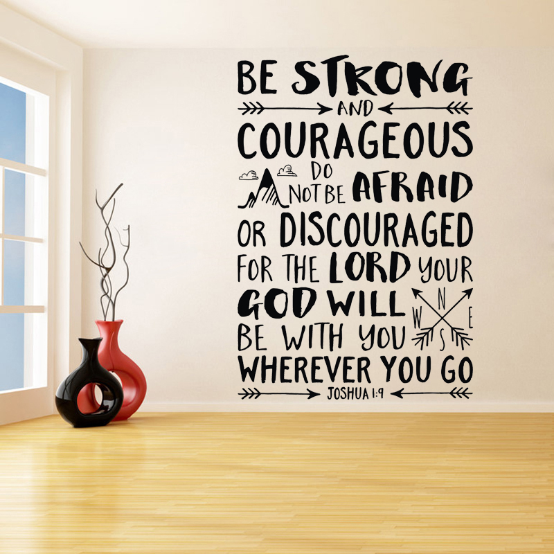 childrens Adventure Courageous Truth wall art vinyl decal sticker Be Brave