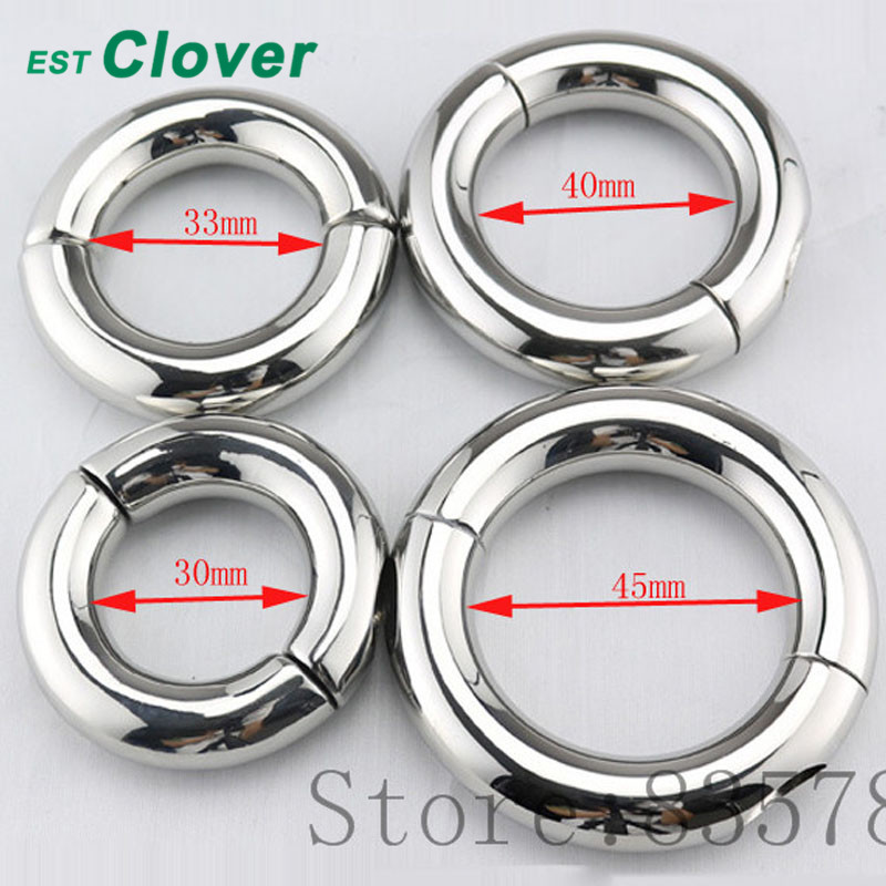 Stainless Steel Penis Ring Scrotum Pendant Ball Stretcher Cock Ring Sex Aid Toys For Men 30/33/40mm F121