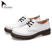 TASTIEN Women Flats Shoes Genuine Leather  Woman 2017 Fashion Women Casual Single Shoes Women Flats High Quality Large Size 44
